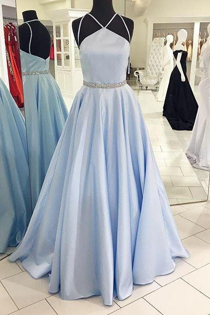 Charming Prom Dress,Long Prom Dresses,Sexy Beaded Evening Dress,New Arrival Prom Dress,Fashion Backless Prom Gown