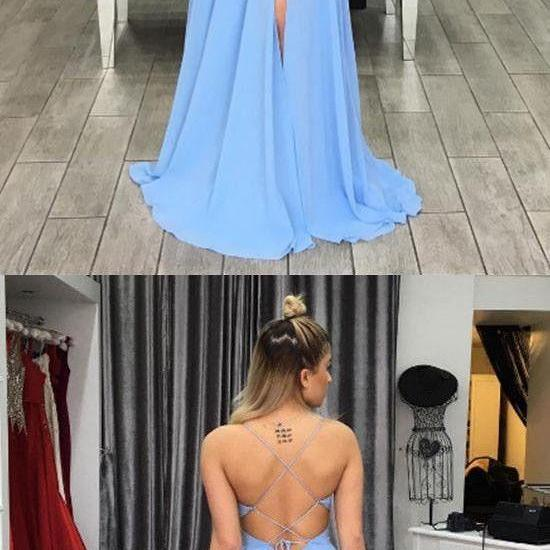 Charming Prom Dress,Sexy Prom Dress,Chiffon Evening Dress,Sleeveless Party Dress