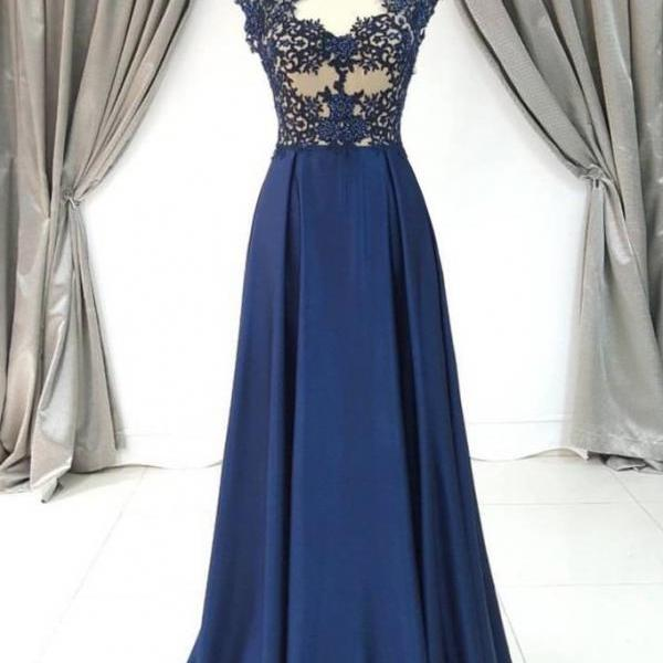 Sexy Appliques Evening Dress, Elegant Prom Dress, Long Prom Dresses, Formal Gown CF138