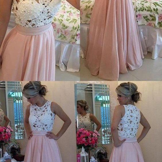 Charming Prom Dress, Elegant Floor Length Pearls Prom Dresses, Cheap Evening Party Dress