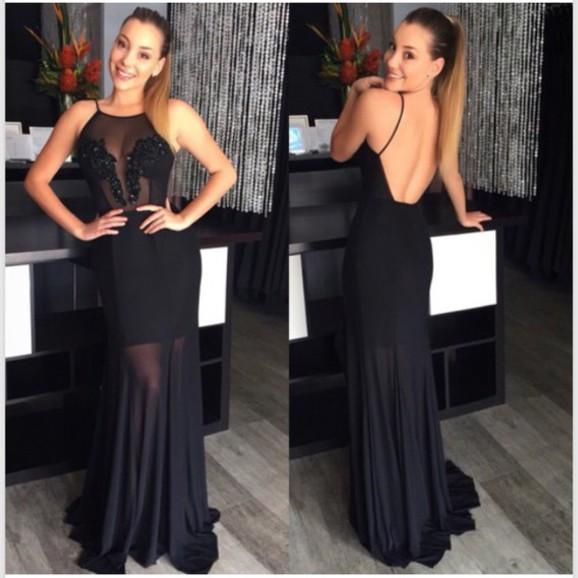 Bg182 Charming Prom Dress,Black Prom Dress,Backless Prom Dress,Chiffon Prom Dress,Formal Evening Dress,Elegant Prom Dress
