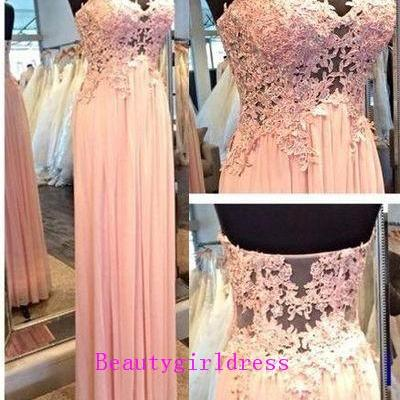 Bg164 Charming Prom Dress,Lace Prom Dresses with Appliques,Floor Length Prom Dress,Long Evening Dress,Formal Women Dress