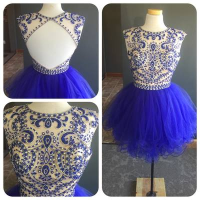 Bg1035 Royal Blue Prom Dress,Backless Homecoming Dress,Short Prom Gown,Formal Dress