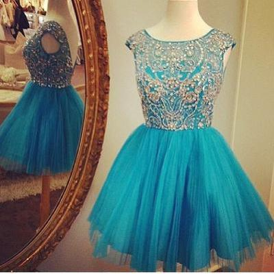 Bg1037 Cute Homecoming Dress,Short Homecoming Dresses,Backless Party Dress,Beading Prom Dress