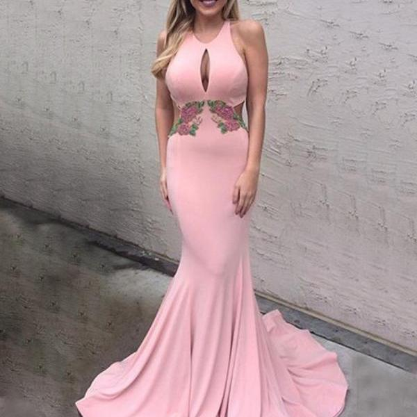Sexy Prom Dress,Mermaid Prom Dresses,Backless Mermaid Evening Dress,Long Evening Gowns