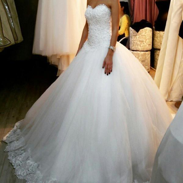 Size Vintage Princess Wedding Dresses Long Sweetheart Strapless Wedding Gowns Vestidos De Novia Bridal Gown